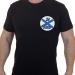 Армейская черная футболка с вышивкой ЗА ВМФ