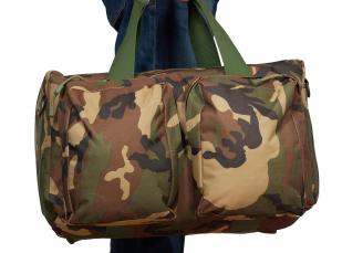 Армейская дорожная сумка (камуфляж Woodland) с нашивкой Росгвардия