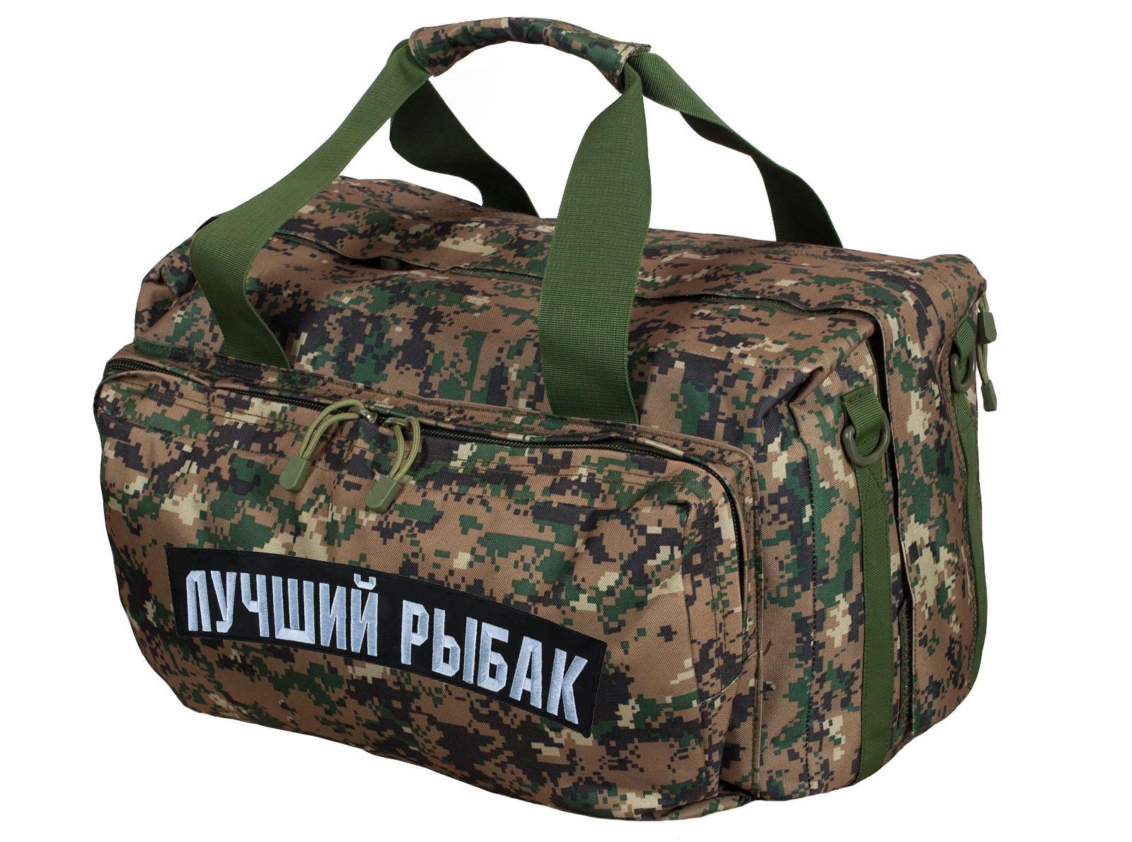 Армейская дорожная сумка с нашивкой Лучший Рыбак - купить оптом