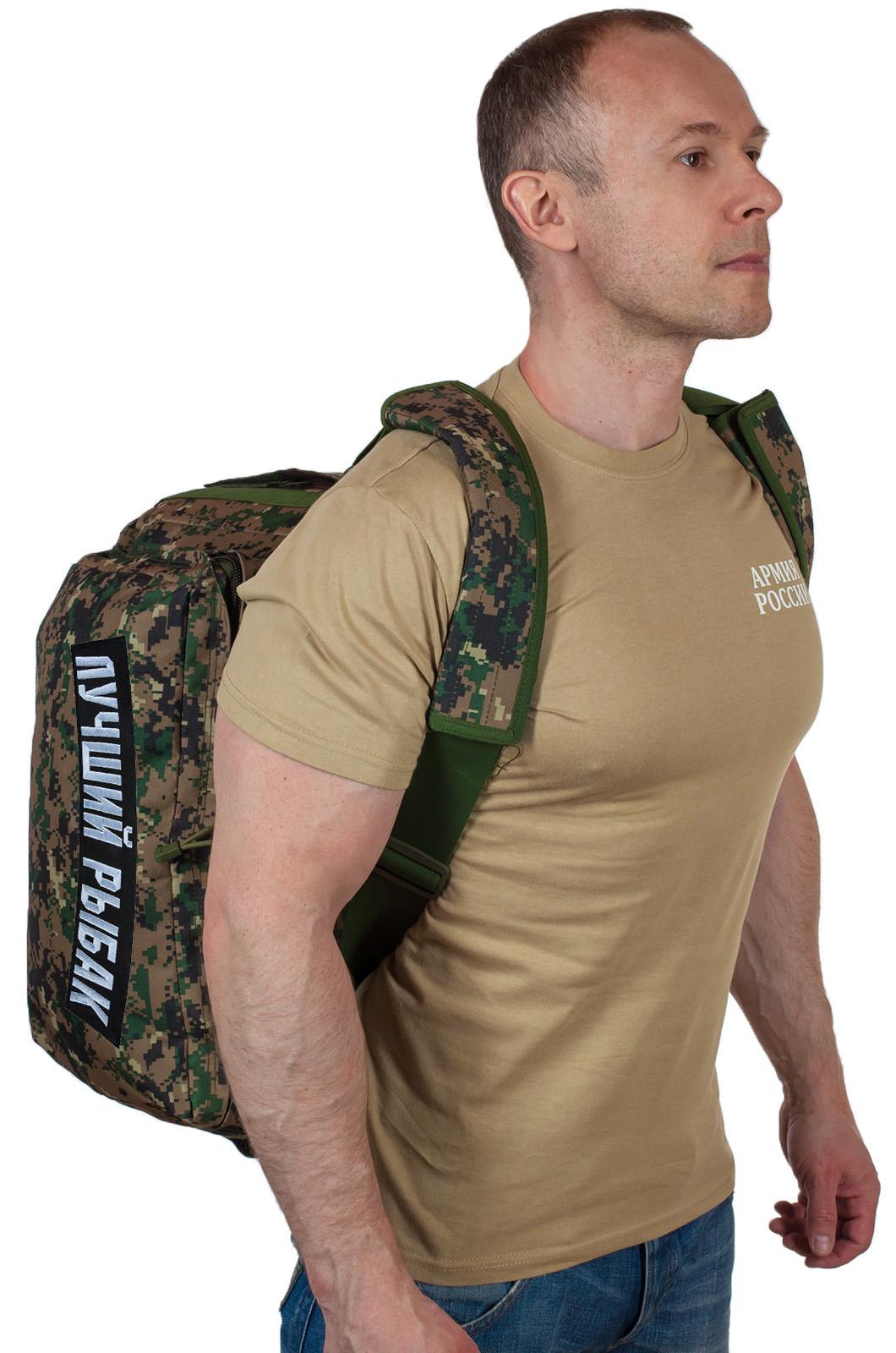 Армейская дорожная сумка с нашивкой Лучший Рыбак - купить выгодно
