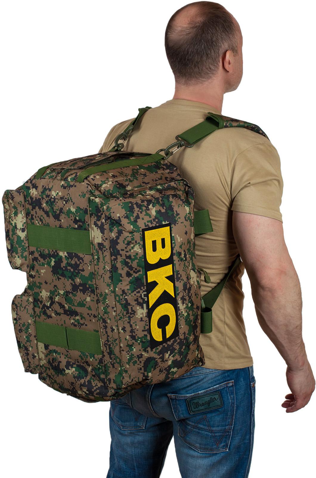 Купить армейскую дорожную сумку с нашивкой ВКС по экономичной цене
