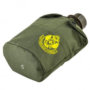 Армейская фляга для военных Пограничной службы с кружкой-котелком