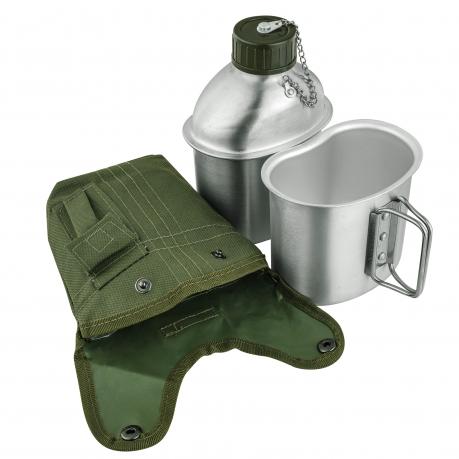 Армейская фляга-котелок Rothco Ultra Force G.I. в чехле