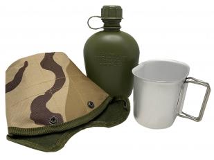 Армейская фляга с котелком