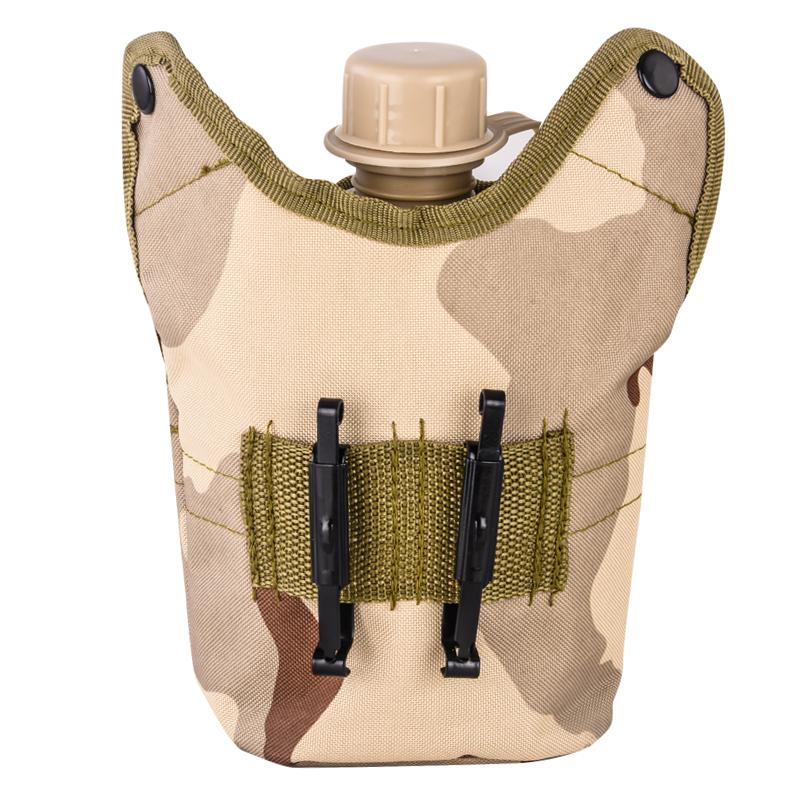 Армейская фляга с котелком в подсумке