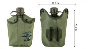 Заказать армейскую флягу в термочехле с символикой ВДВ