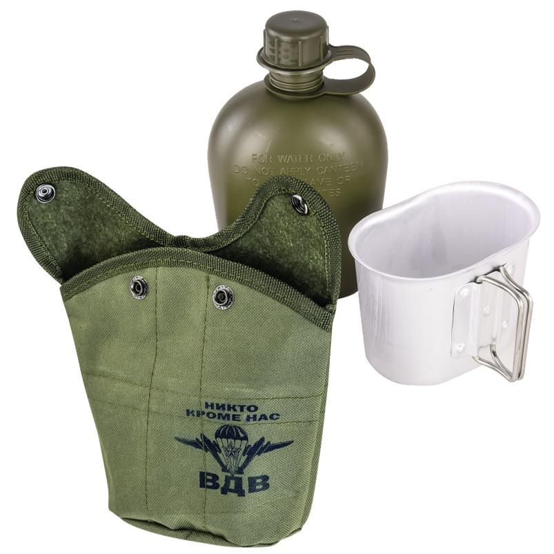 Армейская фляга в термочехле с символикой ВДВ с доставкой