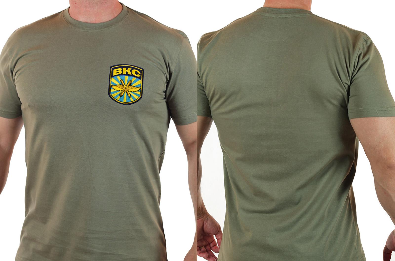 """Армейская футболка """"ВКС"""" с вышитой нашивкой - отличное предложение от Военпро"""