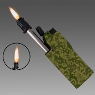 Спецсерия! Армейская газовая зажигалка в пиксельном камуфляже.