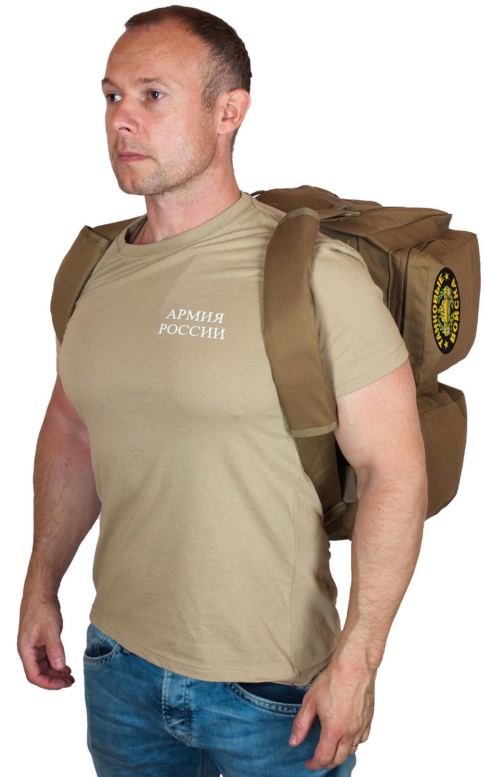 Армейская надежная сумка-рюкзак с нашивкой Танковые Войска - купить в розницу