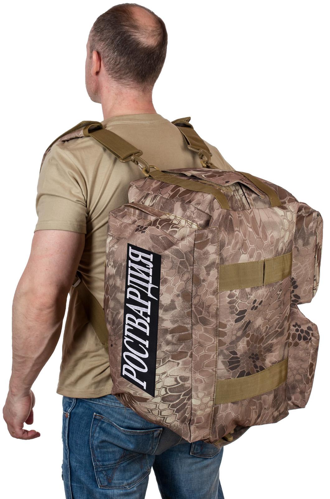 Купить армейскую походную сумку с нашивкой Росгвардия оптом или в розницу выгодно