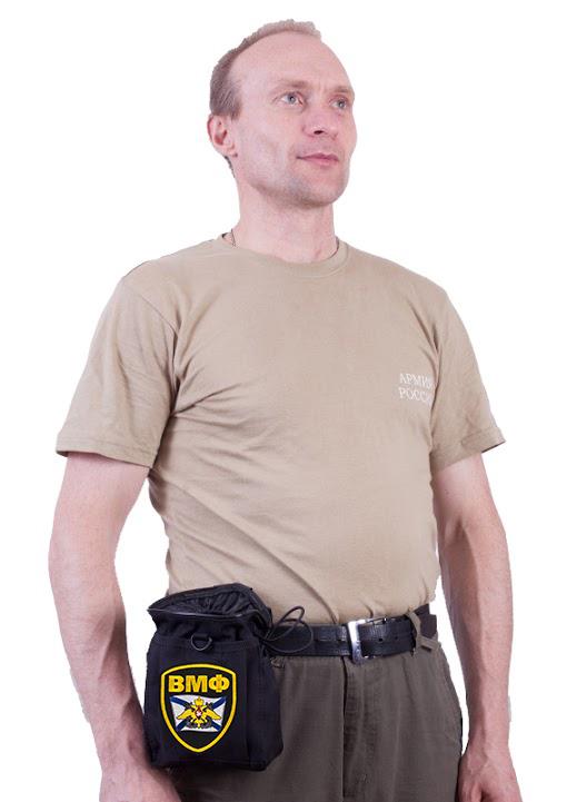 Армейская поясная сумка для фляжки с нашивкой ВМФ в подарок
