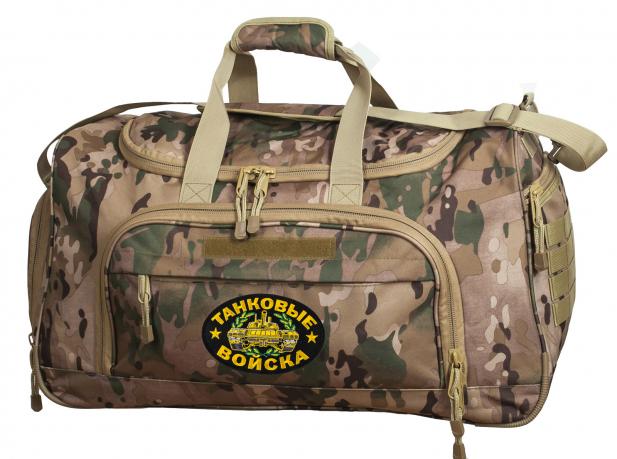 Армейская тревожная сумка 08032B Multicam с нашивкой Танковые Войска