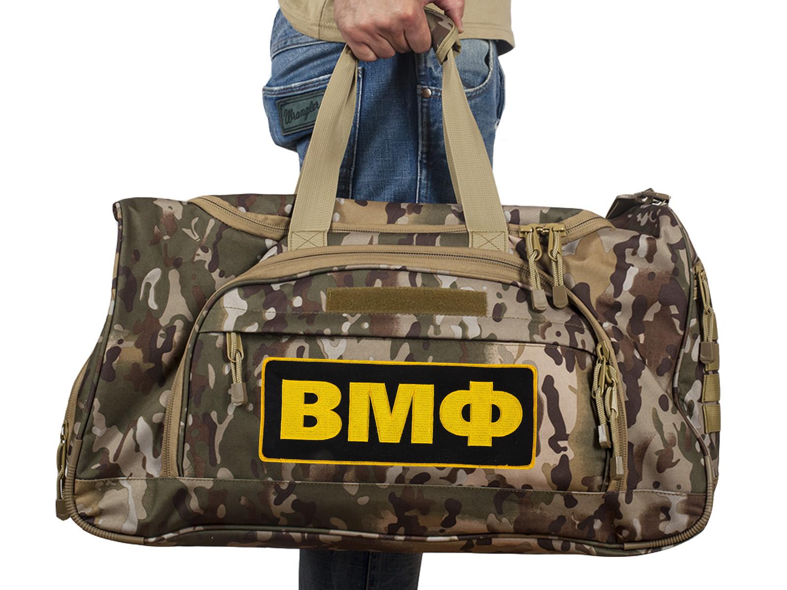 Купить армейскую тревожную сумку 08032B с нашивкой ВМФ оптом или в розницу выгодно