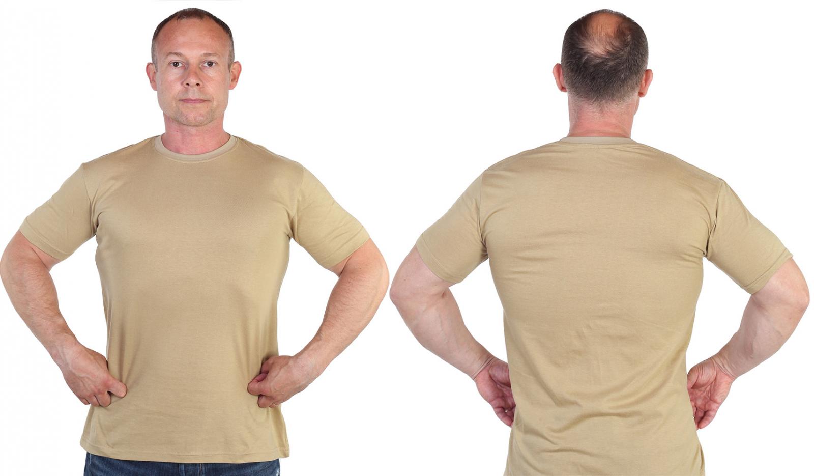 Армейская уставная футболка песочного цвета