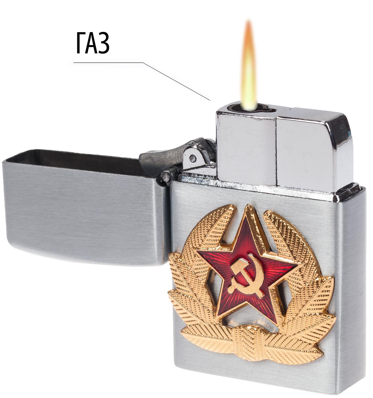 Армейская зажигалка с кокардой СА