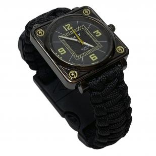 Армейские часы с паракордовым браслетом
