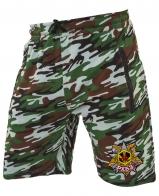 Армейские камуфлированные шорты с нашивкой РХБЗ