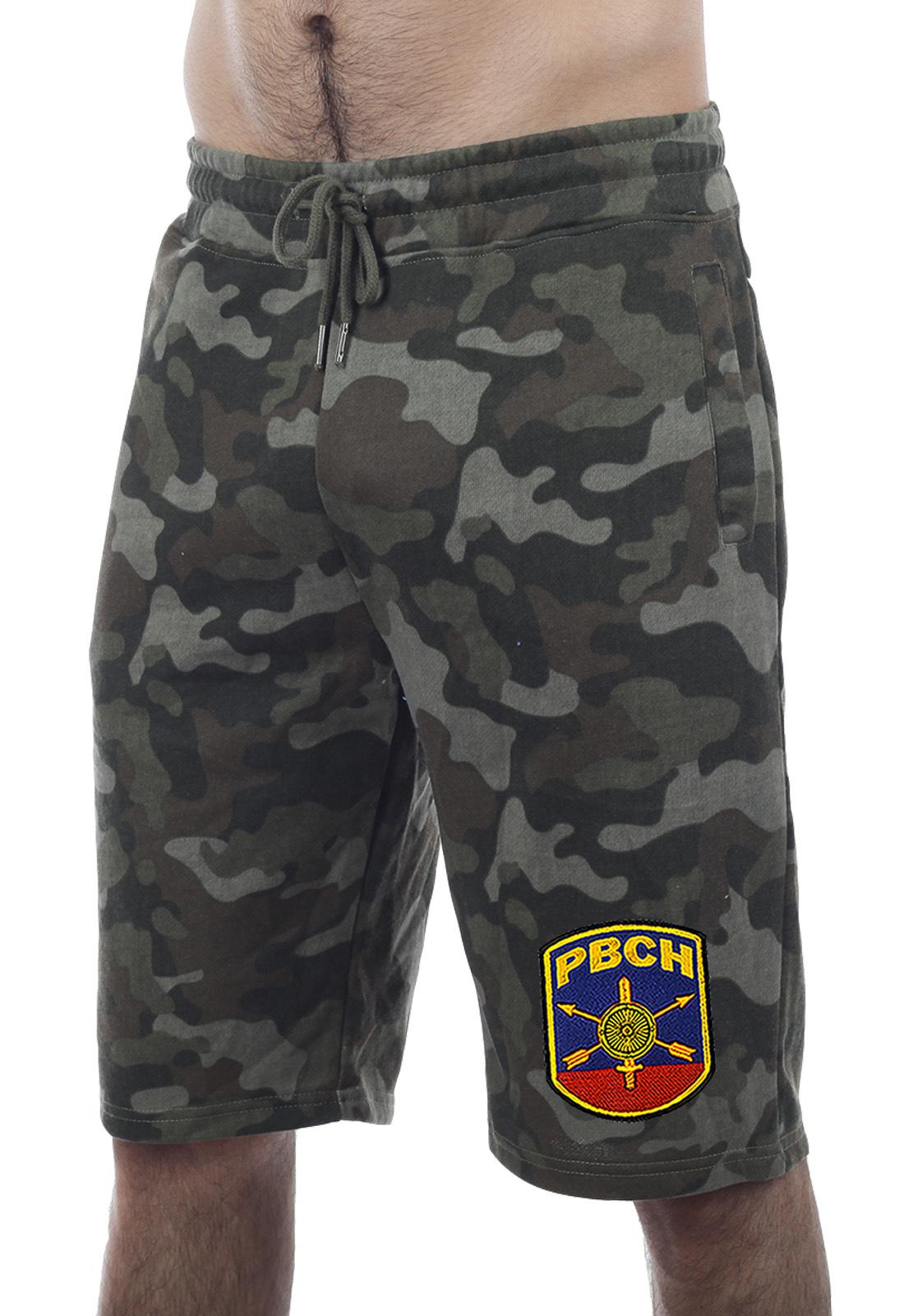 Купить армейские камуфляжные хаки-шорты с нашивкой РВСН с доставкой в ваш город