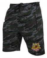 Армейские камуфляжные шорты с карманами и нашивкой РХБЗ