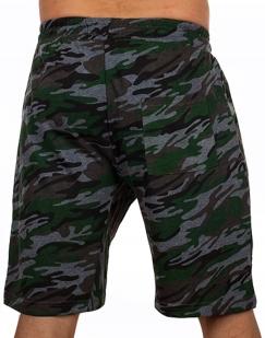 Армейские камуфляжные шорты с карманами и нашивкой РХБЗ - заказать оптом