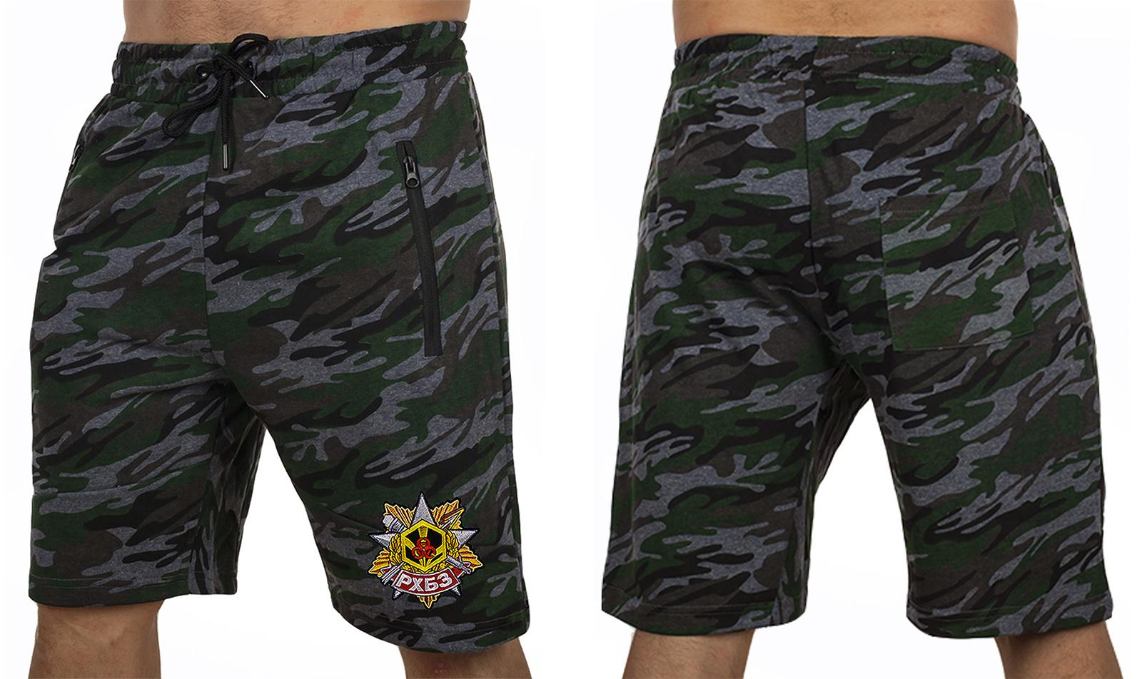 Армейские камуфляжные шорты с карманами и нашивкой РХБЗ - заказать в Военпро