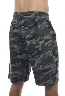 Армейские камуфляжные шорты с карманами и нашивкой РВСН - купить в подарок