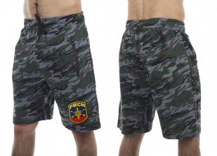 Армейские камуфляжные шорты с карманами и нашивкой РВСН - купить выгодно