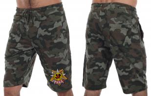 Армейские камуфляжные шорты с нашивкой РХБЗ - купить с доставкой