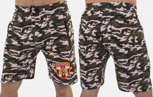 Армейские камуфляжные шорты с нашивкой Росгвардия - купить в розницу