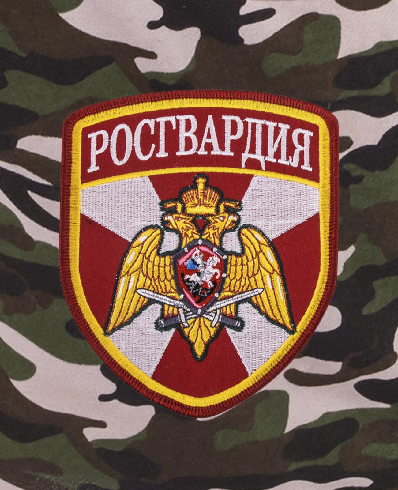 Армейские камуфляжные шорты с нашивкой Росгвардия