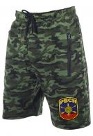 Армейские комфортные шорты с карманами и нашивкой РВСН