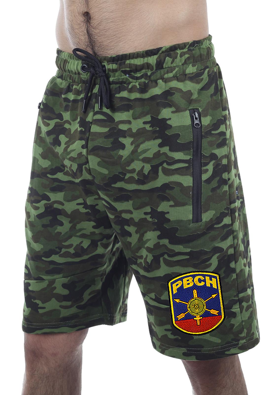 Купить армейские комфортные шорты с карманами и нашивкой РВСН оптом или в розницу