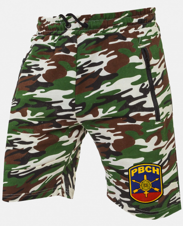 Армейские комфортные шорты с нашивкой РВСН