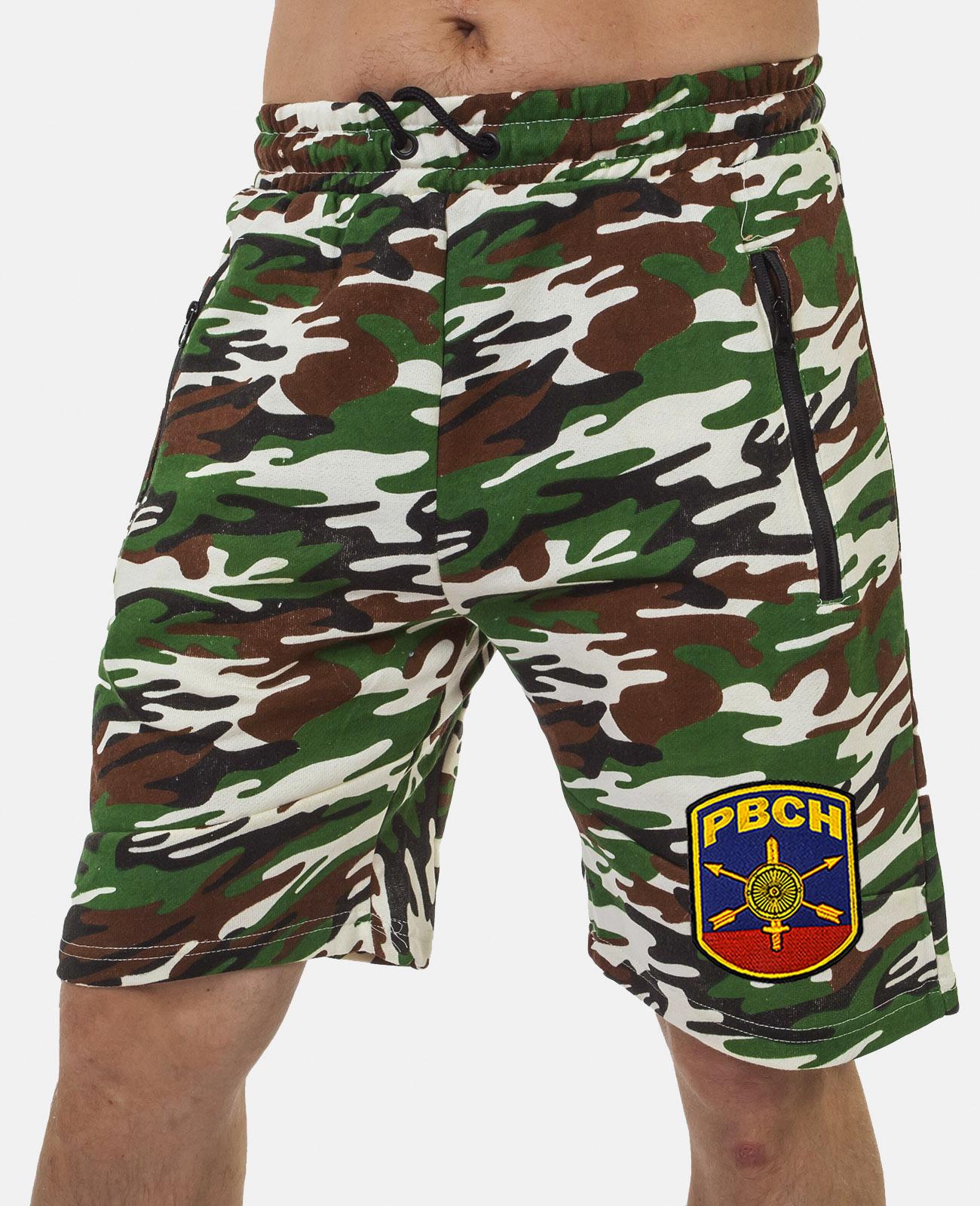 Купить армейские комфортные шорты с нашивкой РВСН в подарок мужчине