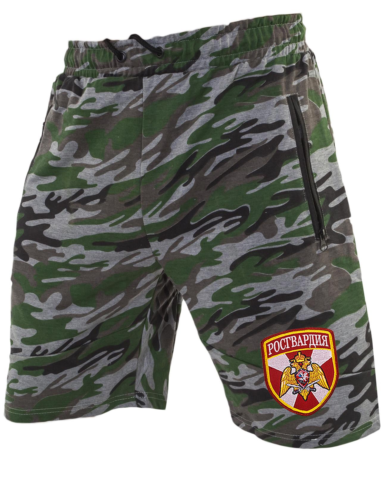 Армейские крутые милитари шорты с нашивкой Росгвардия