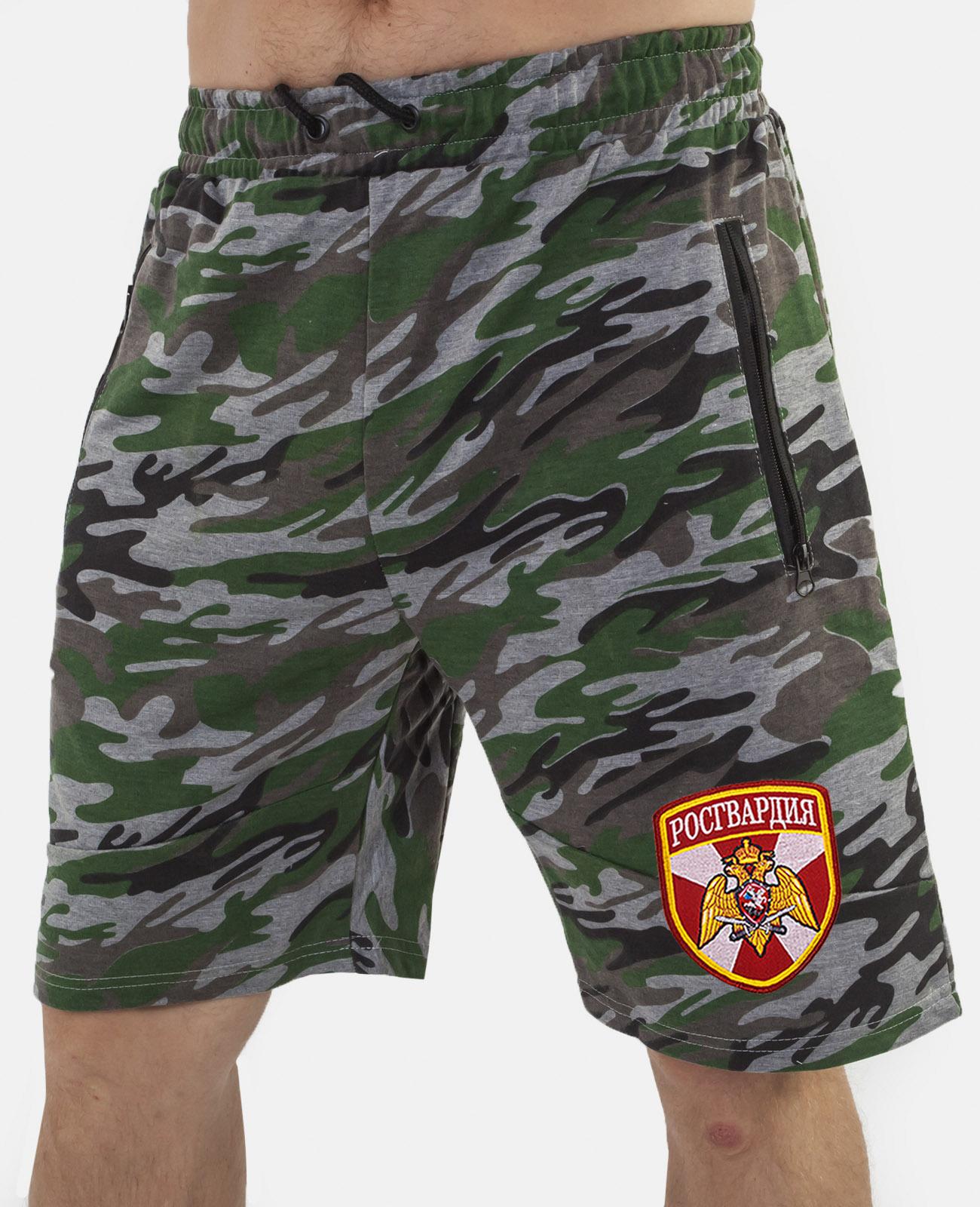 Купить армейские крутые милитари шорты с нашивкой Росгвардия в подарок мужчине