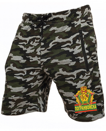 Армейские милитари шорты с нашивкой Погранвойска