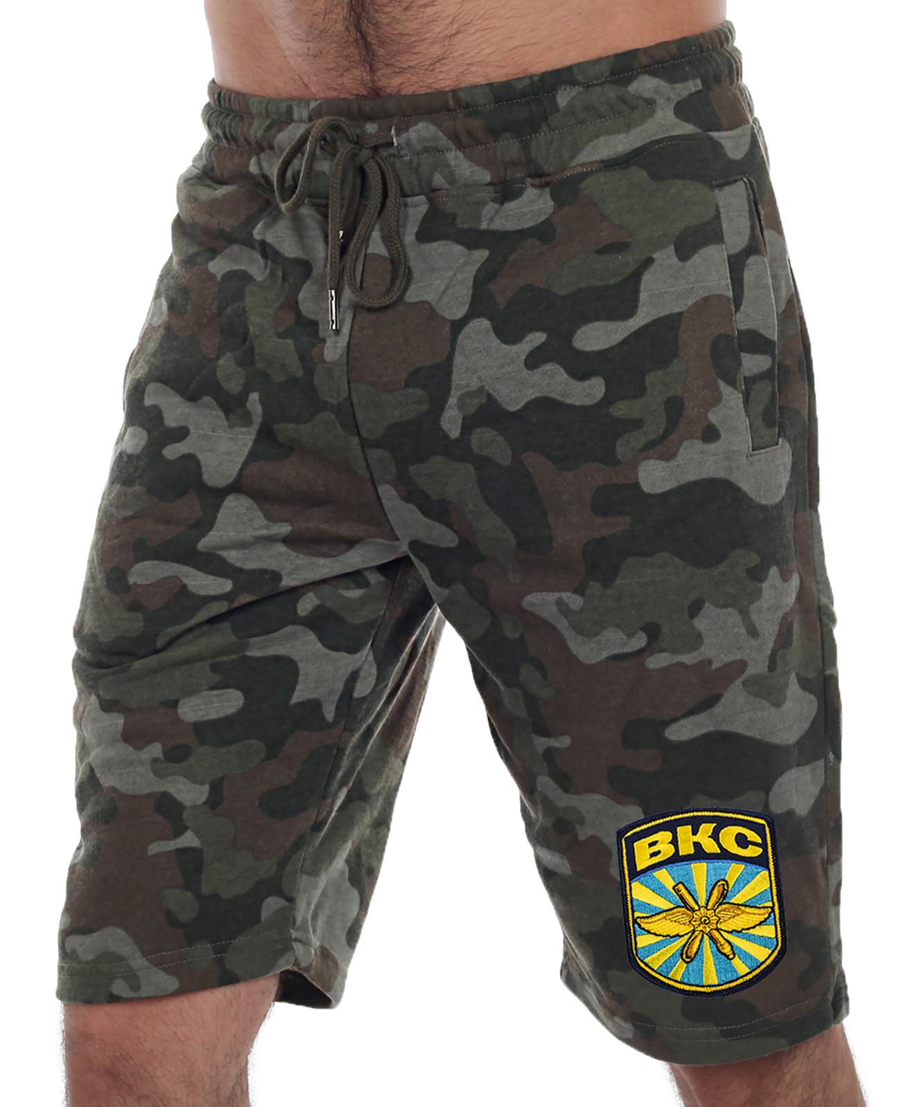 Купить армейские мужские шорты нашивкой ВКС с доставкой по России