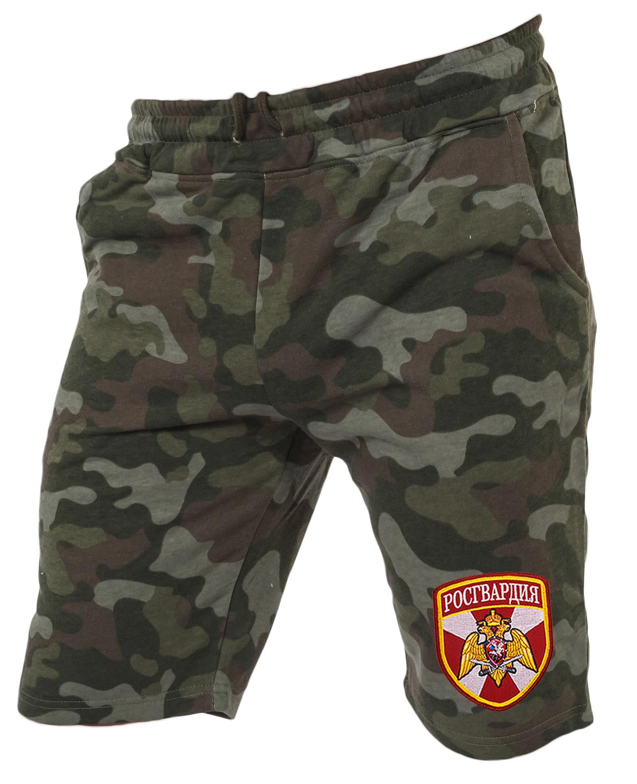 Армейские особенные шорты с карманами и нашивкой Росгвардия