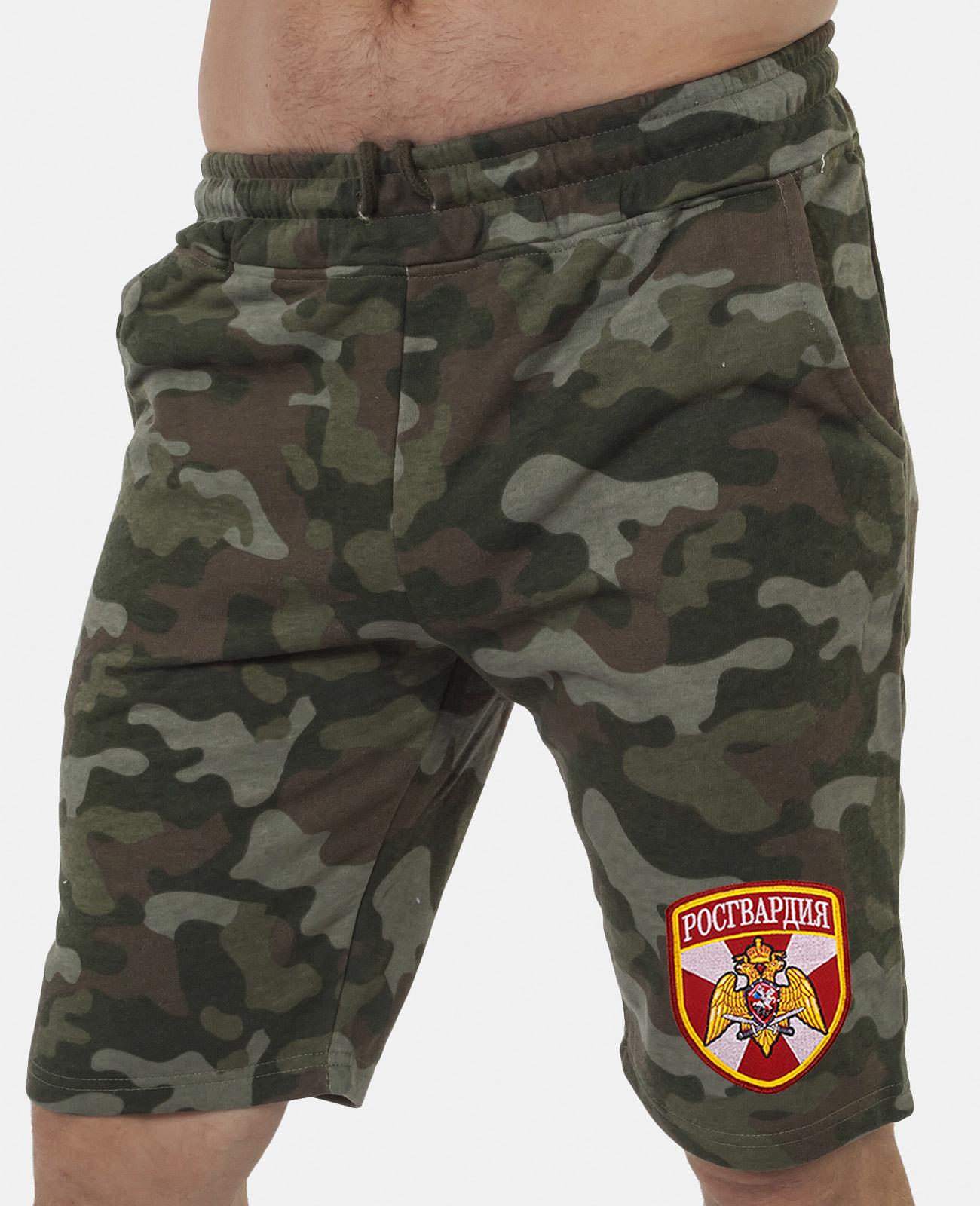Купить армейские особенные шорты с карманами и нашивкой Росгвардия по специальной цене