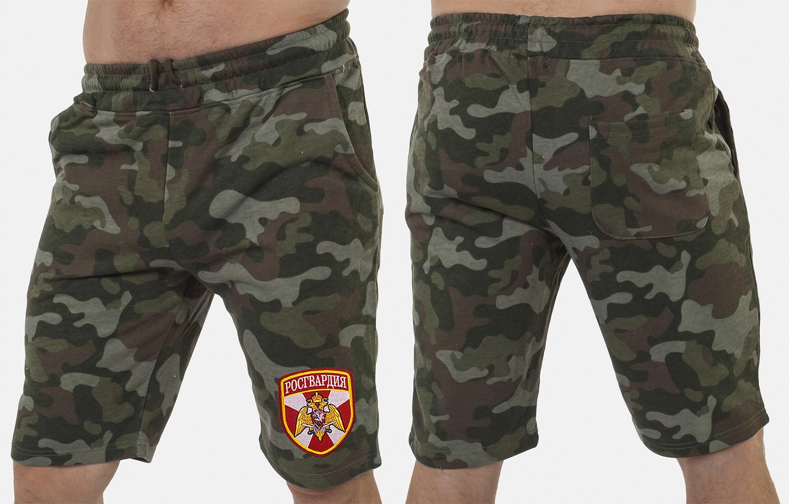 Армейские особенные шорты с карманами и нашивкой Росгвардия - заказать выгодно