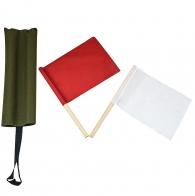 Армейские сигнальные флажки в чехле олива (красный и белый)