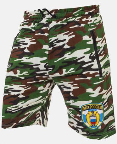 Армейские свободные шорты с нашивкой ФСО
