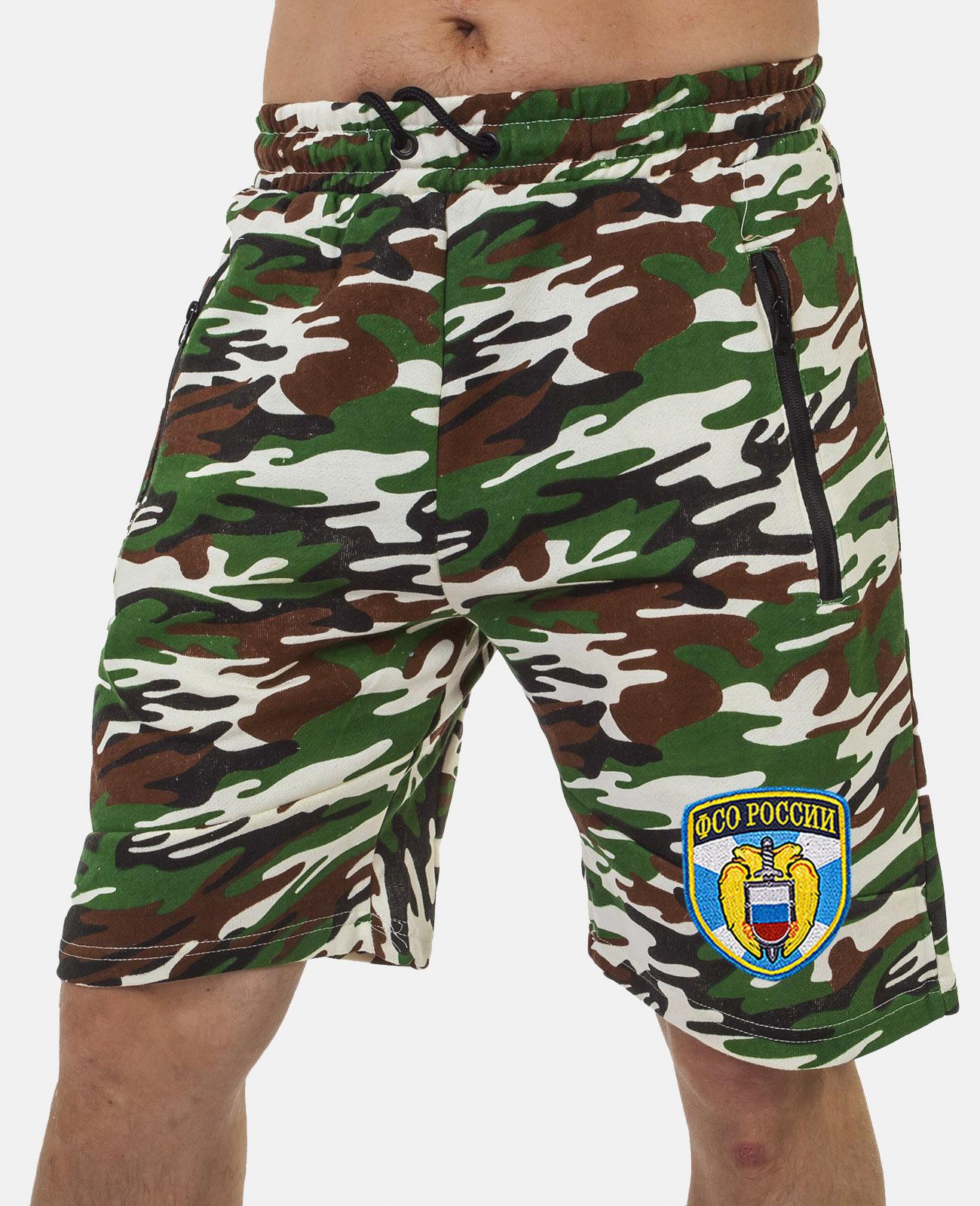 Купить армейские свободные шорты с нашивкой ФСО оптом или в розницу