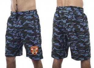 Армейские свободные шорты с нашивкой Росгвардия - заказать в розницу