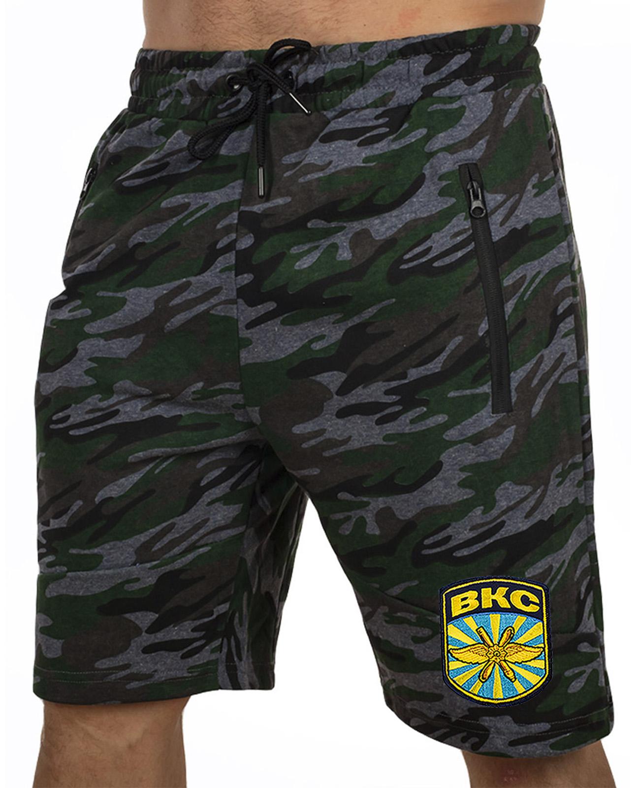 Купить армейские темные шорты с нашивкой ВКС в подарок любимому