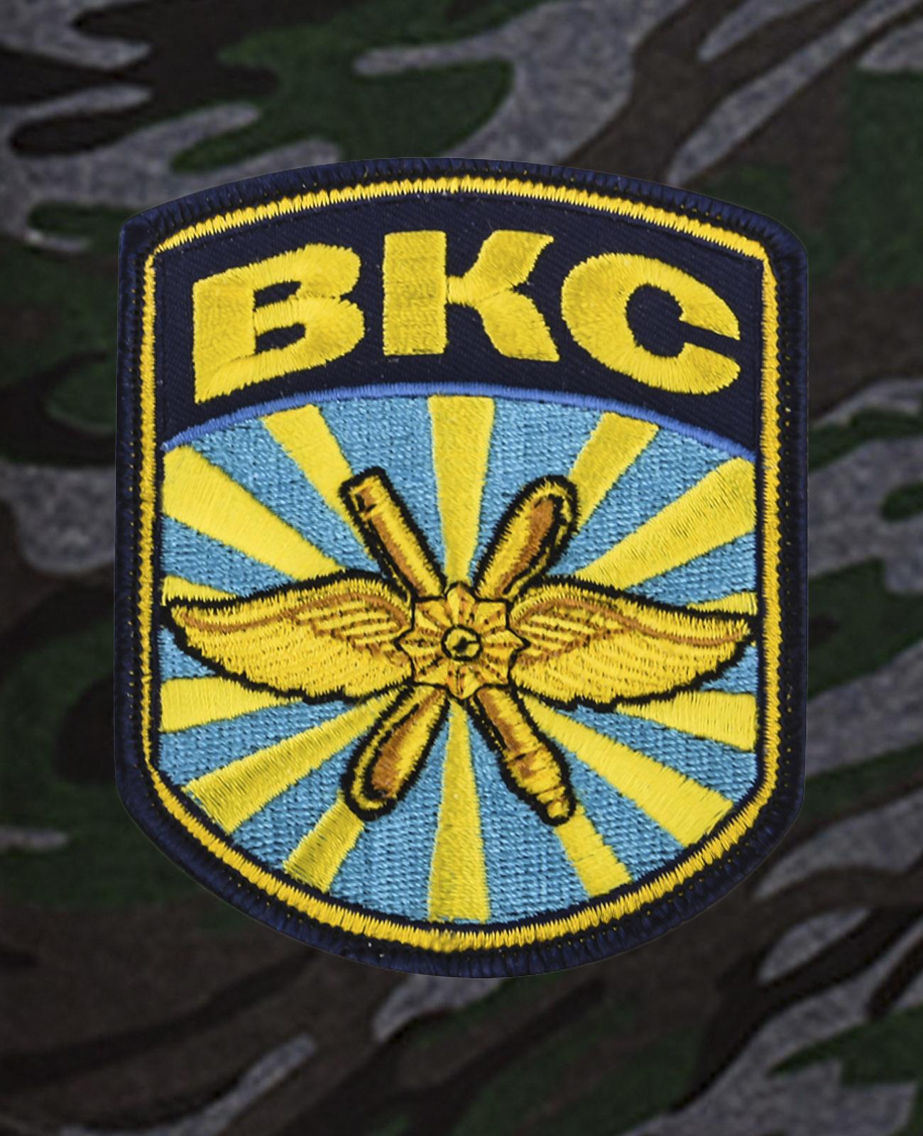 Армейские темные шорты с нашивкой ВКС