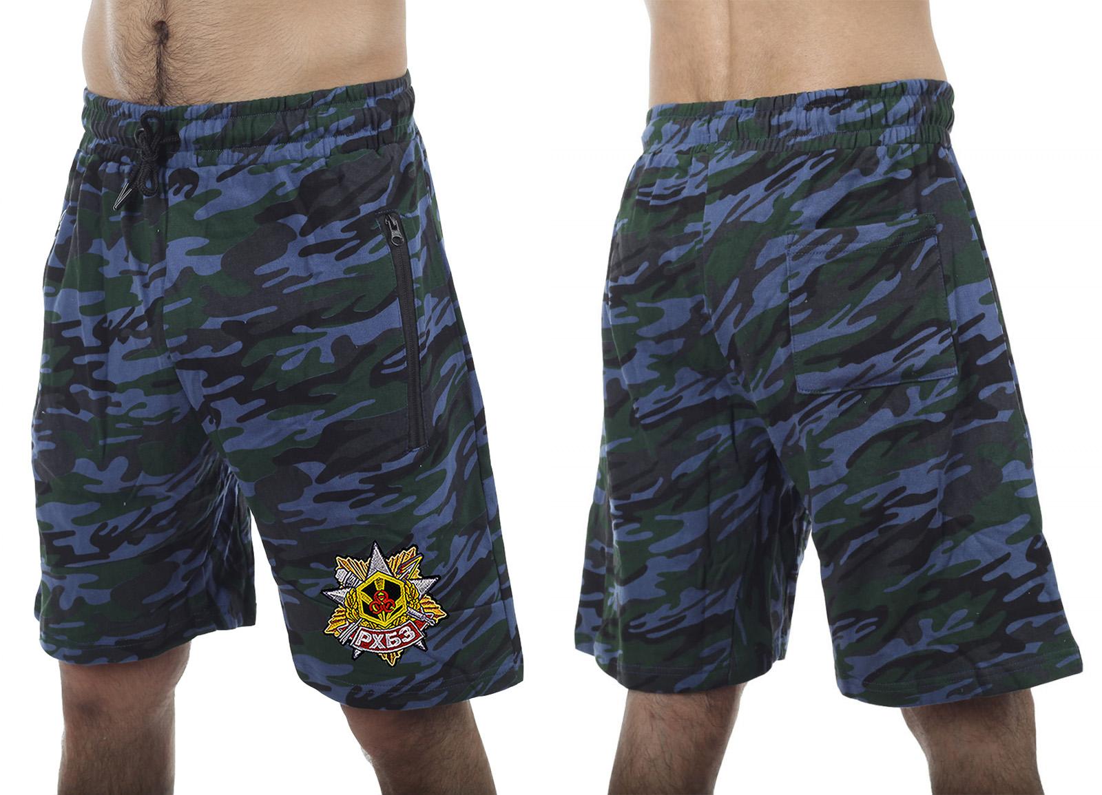 Армейские трендовые шорты с карманами и нашивкой РХБЗ - купить с доставкой