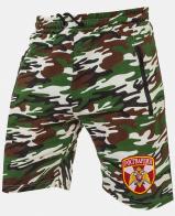Армейские трикотажные милитари-шорты с нашивкой Росгвардия